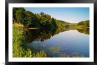More Hall Reservoir, Peak District near Sheffield, Framed Mounted Print