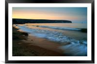 Sunset over Swanage Bay, Dorset, Framed Mounted Print