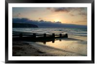 Sunrise over Swanage Bay, Dorset, Framed Mounted Print