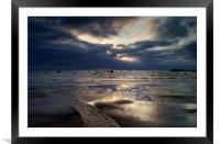 Sunrise over Swanage Bay, Dorset, Framed Mounted Print