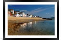 Lyme Regis Main Beach & Seafront, Framed Mounted Print
