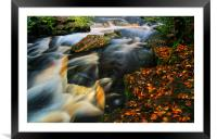 River Rivelin Waterfalls, Framed Mounted Print