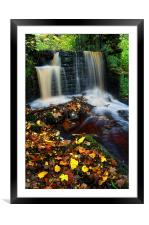River Rivelin Waterfalls, Framed Mounted Print