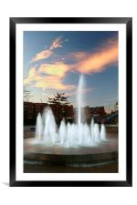 Water Feature in Sheffield Rail Station, Framed Mounted Print