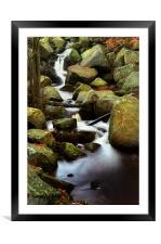 Padley Gorge Falls, Framed Mounted Print