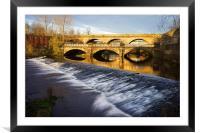 Norfolk Bridge and Burton Weir, Framed Mounted Print
