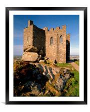 Carn Brea Castle, Framed Mounted Print