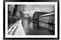Sheffield Canal Frozen, Framed Mounted Print