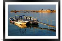 Swanage Pier and Boat Jetty, Framed Mounted Print
