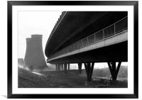 Tinsley Cooling Towers & Viaduct, Framed Mounted Print