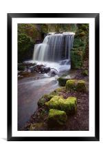 Rivelin Falls in Winter, Framed Mounted Print