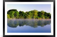 Misty Morning on Chard Reservoir, Framed Mounted Print