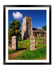 All Saints Church, Eggesford, Framed Mounted Print