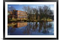 River Don at Kelham Weir, Framed Mounted Print
