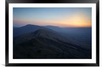 Great Ridge Sunset, Framed Mounted Print