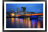 London Bridge Reflections, Framed Mounted Print
