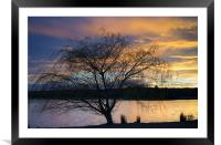 Rother Valley Sunset, Framed Mounted Print