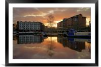 Victoria Quays Sunset, Sheffield, Framed Mounted Print