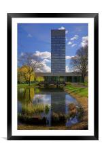 University Arts Tower & Weston Park Pond, Framed Mounted Print