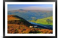 Ladybower Lookout, Framed Mounted Print
