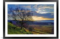 Longshaw Estate Sunset, Framed Mounted Print