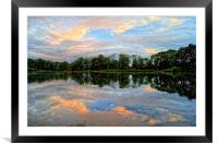Chard Reservoir at Dawn, Framed Mounted Print