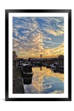 Sheffield Canal Sunset, Framed Mounted Print