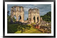 Roche Abbey Ruins, Framed Mounted Print