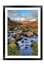 Burbage Brook in Autumn, Framed Mounted Print