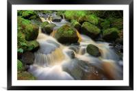 Wyming Brook Falls, Framed Mounted Print