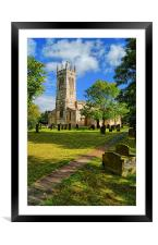 St John The Baptist Church,Wadworth, Framed Mounted Print