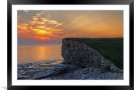 Nash Point Sunset , Framed Mounted Print