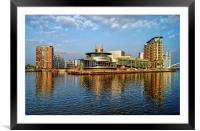Salford Quays Reflections, Framed Mounted Print