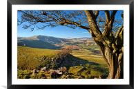 Mam Tor from above Cave Dale, Framed Mounted Print