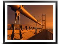 Humber Bridge at Sunset, Framed Mounted Print