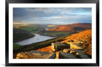 Ladybower from Bamford Edge , Framed Mounted Print