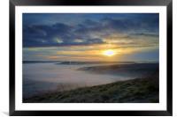 Sunrise over Hope Valley Mist, Framed Mounted Print