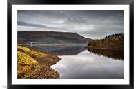 Ladybower Tranquility , Framed Mounted Print