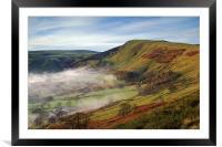 Mist below Mam Tor , Framed Mounted Print