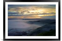 Hope Valley Sunrise 2, Framed Mounted Print