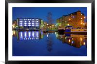 Victoria Quays Night Reflections, Framed Mounted Print