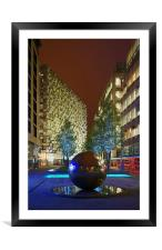 Millennium Square at Night , Framed Mounted Print