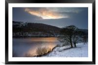 Winter Sunset over Ladybower , Framed Mounted Print