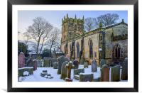 St Edmunds Church, Castleton in Winter, Framed Mounted Print