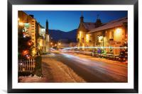 Christmas in Castleton , Framed Mounted Print