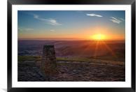 Mam Tor Sunrise , Framed Mounted Print