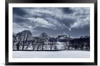 Bamford Edge in Winter , Framed Mounted Print