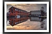 Victoria Quays Sunset , Framed Mounted Print