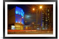 Moor Street Sub Station and Velocity Tower , Framed Mounted Print
