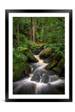 Wyming Brook Cascading Falls, Framed Mounted Print